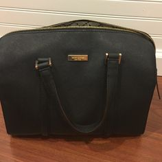 Kate spade New York Newbury lane Cassie satchel A black leather bag that comes with a removable strap kate spade Bags Satchels