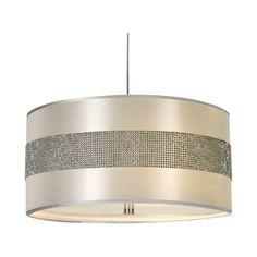 Modern Drum Pendant Lights In Metallic Silver Finish At Destination Lighting