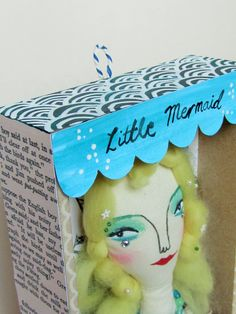 Mermaid Dolls, Some Image, The Little Mermaid, My Images, Christmas Ornaments, Holiday Decor, Box, Handmade, Snare Drum