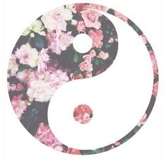 Ying yang symbol and flowers put them together. Tumblr Backgrounds, Cute Backgrounds, Wallpaper Backgrounds, Phone Backgrounds, Iphone Wallpapers, Yin Yang, Overlays, Png Tumblr, Tumblr Drawings
