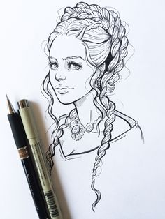I've finally started watching Game of Thrones and of course am instantly addicted  Those hairstyles tho!   www.lyfeillustration.com