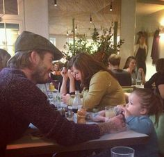 November 2013: Harper & David having lunch