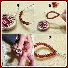 Art Jewelry Elements: Button Closure Bracelet Tutorial #diy #beading