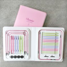 October is Breast Cancer Awareness Month! This compact interchangeable knitting needle set by Denise raises funds for breast cancer research.