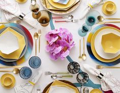 Tableware from Diane von Furstenberg.  Love these colors and shapes--every meal would look like such a party!
