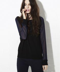 Crumpet Dot lace sweatshirt