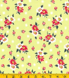 DS Quilt Collection- Sweet Ruby Bouquet Green Fabric at Joann.com