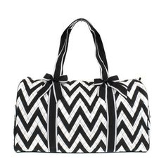 The Big Day Quilted 21 Chevron Duffel-removable bows by Mommies2Be