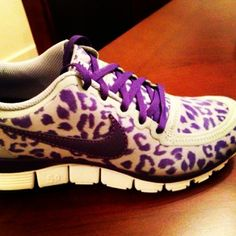 leopard print shoes and they are PURPLE