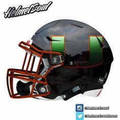 255b69f5f31e Miami Hurricanes Riddell SpeedFlex concept football helmet Football Helmet  Design