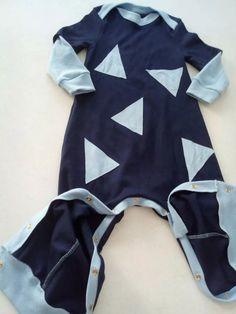 macacão para bebês menino azul marinho e azul claro tam gg