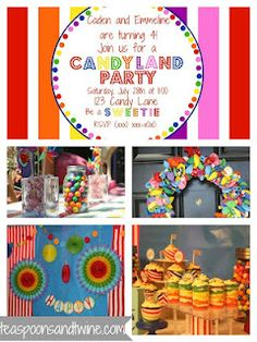 Candyland party- I can take A LOT of these great ideas and use them for Wesley's first birthday!