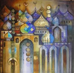 Lamis Al Hamwi to use with calligraphy...pastels, lines, tones..illuminations