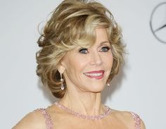 Jane Fonda curly hairstyle