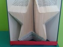Buch Faltung - Bookfolding Stern