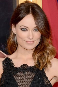 Sultry smoky eyes on Olivia Wilde.