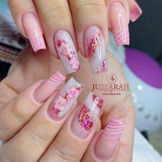 Bridal Nails Designs, Manicure Nail Designs, Nail Salon Design, Manicure E Pedicure, Nail Art Designs, Summer Acrylic Nails, Best Acrylic Nails, Spring Nails, Polygel Nails