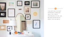 Amazing gallery wall styled by Abby Larson