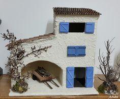 Maison en carton pour la cr che de no l cartonnage - Fabrication de maison pour creche de noel ...