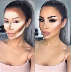 Easy Conture And Hignlight Makeup Tutorial Step By Step Ideas For Prom – debrapeters.topwo… – Easy Conture And Hignlight Makeup Tutorial Step By Step Ideas For Prom – debrapeters. Highlighter Makeup, Contour Makeup, Contouring And Highlighting, Eye Makeup, Make Up Contouring, How To Contour Your Face, Makeup Brushes, Eyeshadow Brushes, Concealer