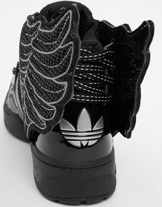 Image 4 of adidas Originals by Jeremy Scott Black 2.0 Mesh Wing High Top Trainers
