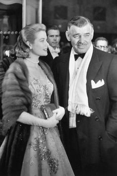 """David Gandy could and should portray Clark Gable in something someday. They look so alike. """"Grace Kelly and Clark Gable arrive at the annual Academy Awards at the RKO Pantages Theatre in Hollywood Hollywood Couples, Old Hollywood Glamour, Golden Age Of Hollywood, Vintage Hollywood, Hollywood Stars, Classic Hollywood, Hollywood Gowns, Hollywood Wedding, Hollywood Bedroom"""