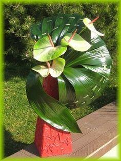 Art Floral : éventails de feuilles - Clo's bricolages
