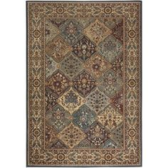 Rizzy Home Bellevue Collection Black/Tan 3 ft. 3 in. x 5 ft. 3 in. Area Rug