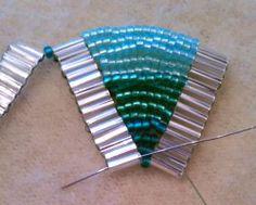 Ladder Stitch Bracelet Tutorial from my-amari.  #Seed #Bead #tutorials