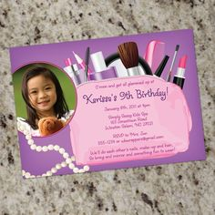 Hey, I found this really awesome Etsy listing at http://www.etsy.com/listing/62214153/girls-glamour-spa-makeover-invitations