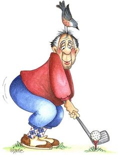 Expert Golf Tips For Beginners Of The Game. Golf is enjoyed by many worldwide, and it is not a sport that is limited to one particular age group. Not many things can beat being out on a golf course o Line Drawing, Painting & Drawing, Golf Clip Art, Illustrations, Illustration Art, Image Digital, Art Impressions Stamps, Creation Photo, Foto Art
