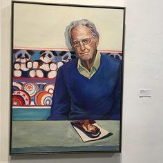 If Wayne Thiebaud were here in three dimensions instead of two he would be excited the poetry night is about to begin.