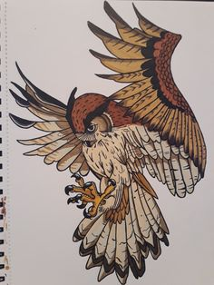 Owl Tattoo Drawings, Tattoo Sketches, Cool Drawings, Art Sketches, Owl Art, Bird Art, Owl Tattoo Design, Desenho Tattoo, Fantastic Art
