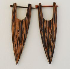 wooden earrings.  etsy.