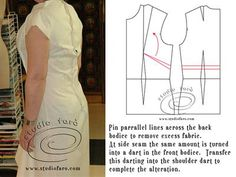 Back Dress too Long Pattern Alteration