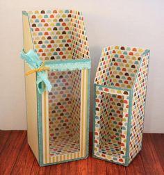 Shoebox Crafts : DIY Tall Window Gift Box