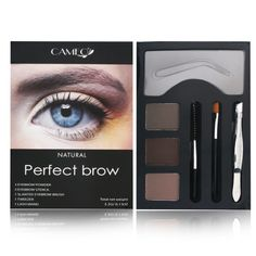 Cameo Perfect Brow Makeup Natural Cameo Perfect Brow Makeup Natural: A palette which helps you to create perfect eyebrow look Includes: 3 eyebrow color cakes 3 eyebrow stencils Tweezers 1 applicati...