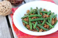 Stir-fried Green Beans with Minced Pork in XO Sauce - Ang Sarap