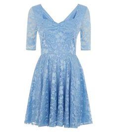 Blue Lace Sweatheart Skater Dress http://www.newlook.com/shop/womens/dresses/blue-lace-sweatheart-skater-dress_313692244