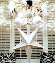 DIY New Years Eve decorations - decorate your chandelier!