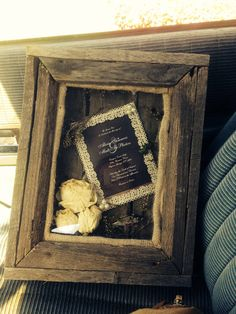 Custom frame or shadowbox made from pallets by BiltayCustoms