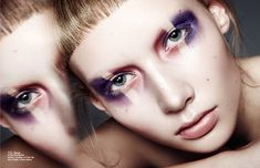 Trixi Johnsson is Captured by Pelle Lannefors for Schön #cosmetics #beauty trendhunter.com