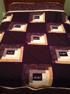 Deep color for Crown Royal Quilt ♌ Crown Royal Quilt, Crown Royal Bags, Quilting Projects, Quilting Designs, Quilting Ideas, Pattern Blocks, Quilt Patterns, Royal Pattern, Diy Crown