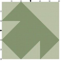 Free Needlepoint Patterns of Popular Quilt Blocks: T Square Quilt Block Needlepoint Coaster