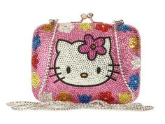 Judith Leiber Hello Kitty Minaudière - $4200 - yep, you read it right, it's a $4200 Hello Kitty Handbag.  My 5 yr old would be thrilled.