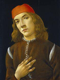 """Sandro Botticelli: """"Porträt eines jungen Mannes"""", um 1480–1485"""