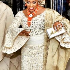 Nkem .... In Ayaba Aso Oke by @patrickayanski ...  We love her look #asooke #stonedasooke #lasercut #lasercutasooke #lasercutfabric #weddings
