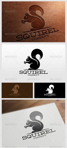 Great squirel Logo Template for your company  File included : .AI .EPS (Vector Format)