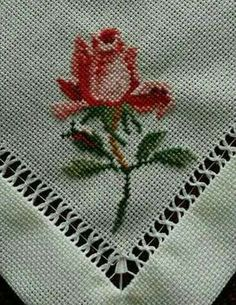 This Pin was discovered by sıd Tiny Cross Stitch, Cross Stitch Bookmarks, Cross Stitch Borders, Cross Stitch Alphabet, Cross Stitch Flowers, Cross Stitch Designs, Cross Stitching, Cross Stitch Patterns, Ribbon Embroidery