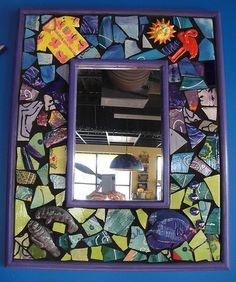 Funky sea theme mosaic mirror via Kristin Miller (artist) on Flicker